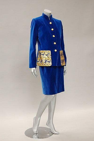 Suit Yves Saint Laurent, 1980s Kerry Taylor Auctions