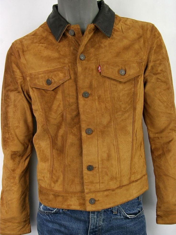 Slim Fit Trucker Jacket. Levi Strauss & Co. Levi's Suede Leather. These Are Slim Fit Jackets. | eBay!