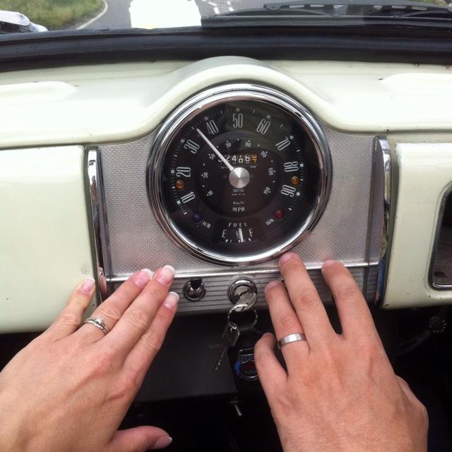 Morris minor wedding car