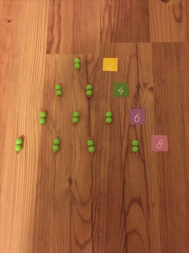 Montessori renkli sayı boncukları ritmik sayma öğretimi  Çiğdem öğretmen