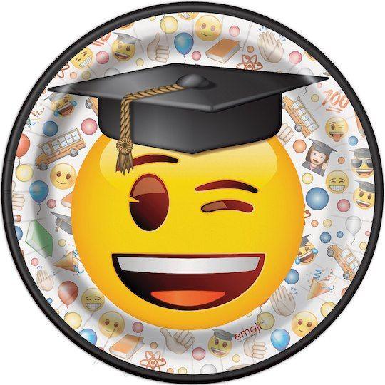 "7"" Emoji Graduation Party Plates, 8ct | Graduation party ..."