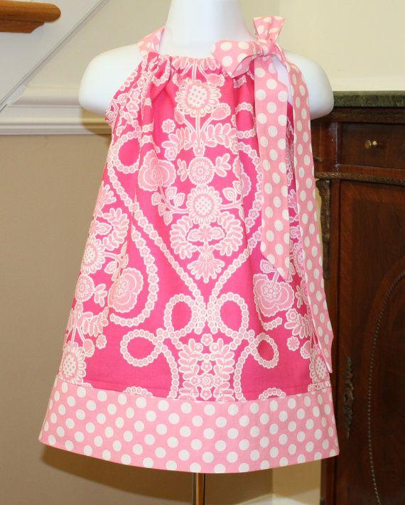 pink Easter Pillowcase dress toddler Ooh la la by BlakeandBailey