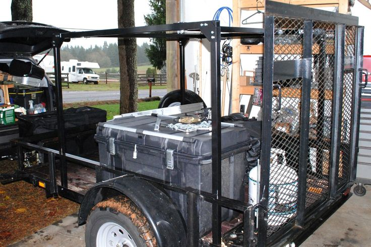 Just installed a No Weld Trailer Rack on Jim's 5x8 utility trailer.  It is 4' tall and 5' long, next is installing a RTT on it.