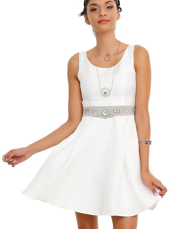 Dress like the daughter of Darth Vader with the Star Wars Princess Leia Dress. Making out with your brother while he's recovering from a Wampa attack is optional.  She's a general these days in Star Wars: The Force Awakens, but way back in the day (a long time ago... and in a galaxy