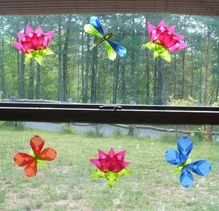 Folded Paper Spring crafts