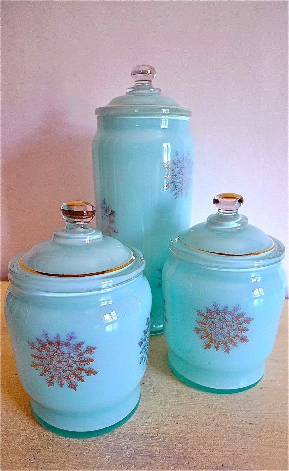 Top 25 ideas about the kitchen canister on pinterest jars vintage kitchen and red glass - Blue glass kitchen canisters ...