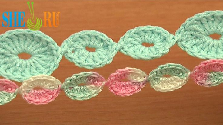 Crochet Cord Made of Rings Tutorial 65 Crochet Bracelets Necklaces Belts http://sheruknitting.com/videos-about-knitting/romanian-lace-ribbons-and-cords/item/633-crochet-cord-made-of-rings.html Learn how to crochet a beautiful cord made of small and large rings connected together in an invisible way. The cord made in one-go-technique which allows you to make you cord the desired length without cutting the yarn once a ring is completed.