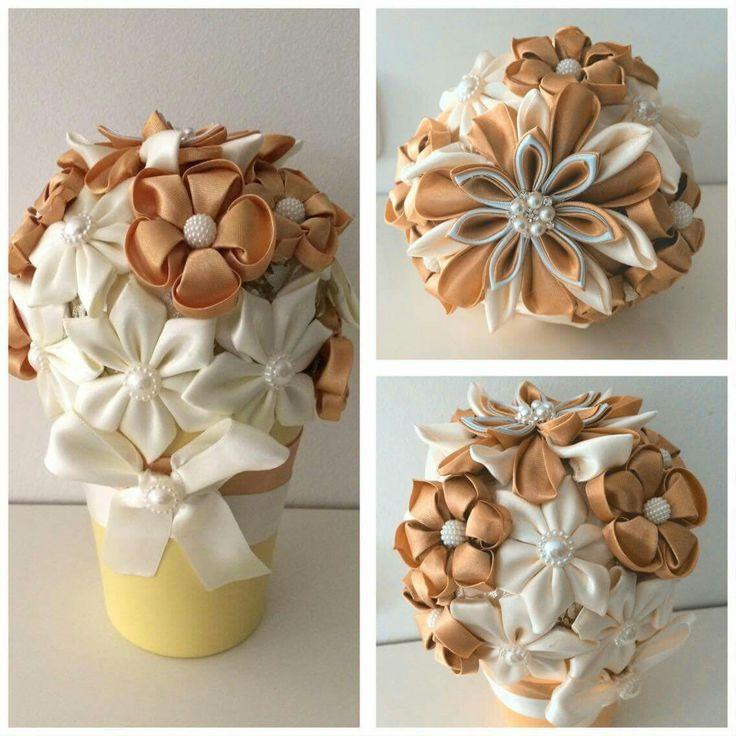 Handmade, kanzashi, robbon, flowers