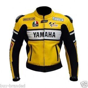 Chaqueta piel moto yamaha