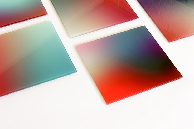 Gradient colors on glass