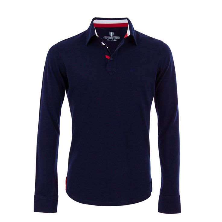 The Driver - Polo Manches Longues Homme - Navy