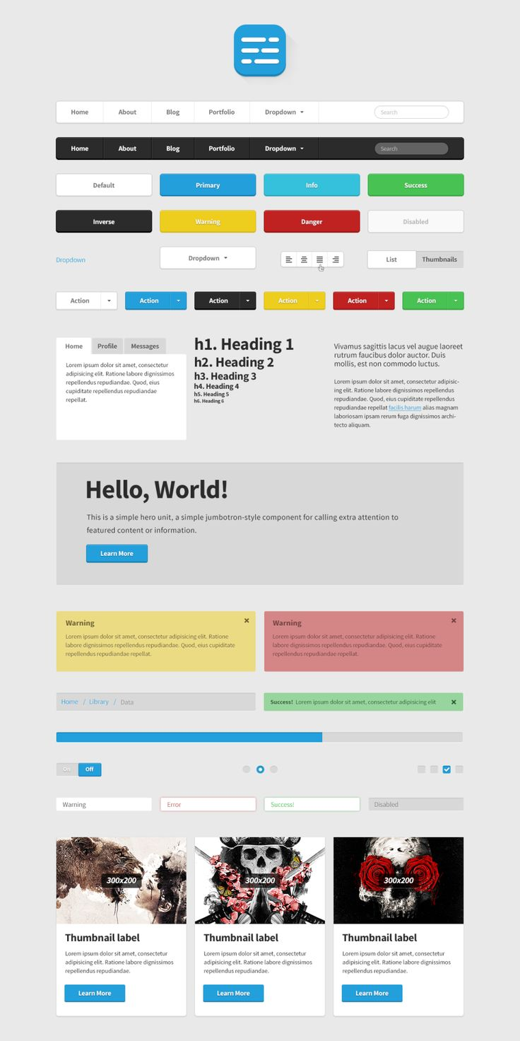 A unique set of well designed and coded web elements available for free download. ML Strap is a UI kit and theme built on the well-known Twitter Bootstrap - posted under Coding, Freebies tagged with: Bootstrap, Buttons, Code, CSS, CSS3, Dropdown, Free, HTML, HTML5, Icon, Menu, Navigation, Notification, Progress, PSD, Radio, Resource, Search Field, Switch, Tab, Template, Toggle, Twitter, UI, Vector, Web Design, Web Development, Web Font by Fribly Editorial