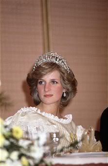 The Cambridge Lover's Knot Tiara of diamonds and pearls was created in 1914 for Queen Mary and was presented to Diana, Princess of Wales by Queen Elizabeth II on Diana's wedding day.