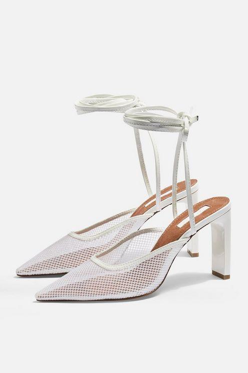 1cd65e4cc637 GRETA Black Lace Up Mesh Mules - Heels - Shoes - Topshop USA