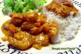 Gamberoni al curry con riso basmati, Mangia senza Pancia