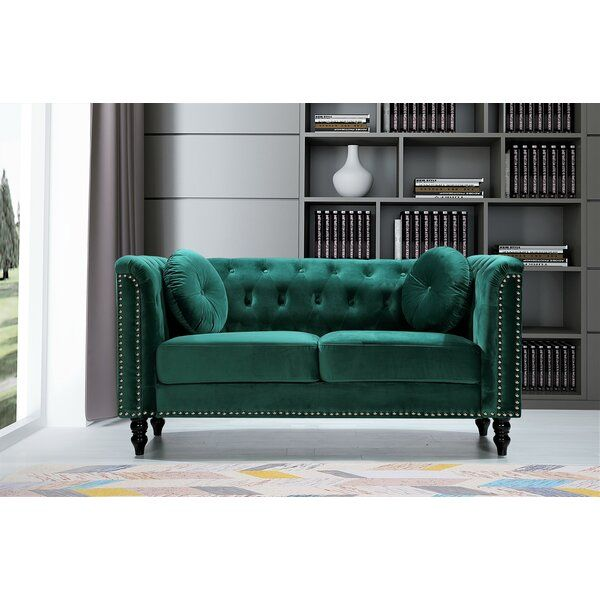 Whetzel Chesterfield 64 Rolled Arms Loveseat In 2021 Roll Arm Loveseat Love Seat Rolled Arm Sofa