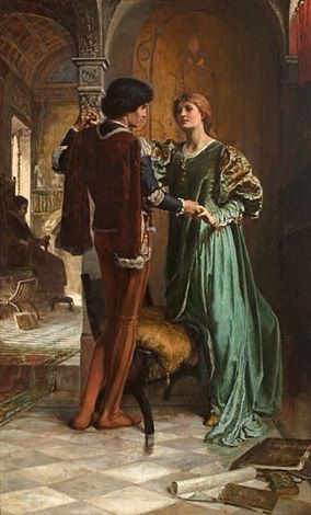 """""""The Betrothal"""" -- by George Percy R. E. Jacomb-Hood (British, 1857–1937)"""