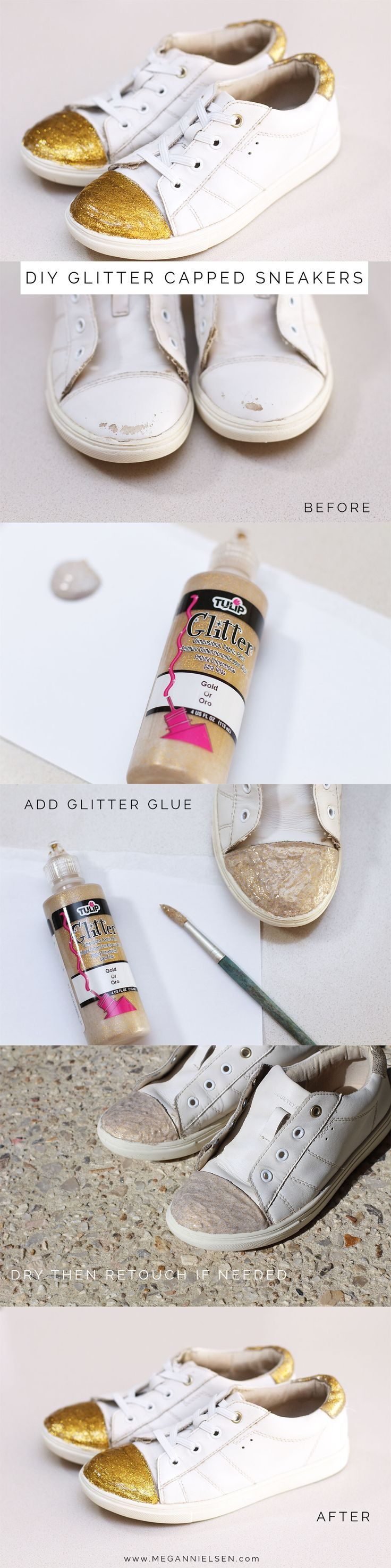 DIY Glitter capped sneakers http://blog.megannielsen.com/2016/08/glitter-sneakers/?utm_campaign=coschedule&utm_source=pinterest&utm_medium=Megan%20Nielsen%20Patterns&utm_content=DIY%20Glitter%20capped%20sneakers