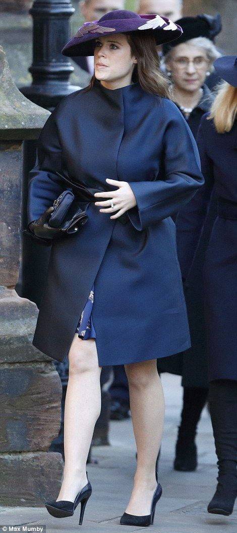 dailymail:  Memorial Service for Gerald Grosvenor, 6th Duke of Westminster, Chester Cathedral, November 28, 2016-Princess Eugenie