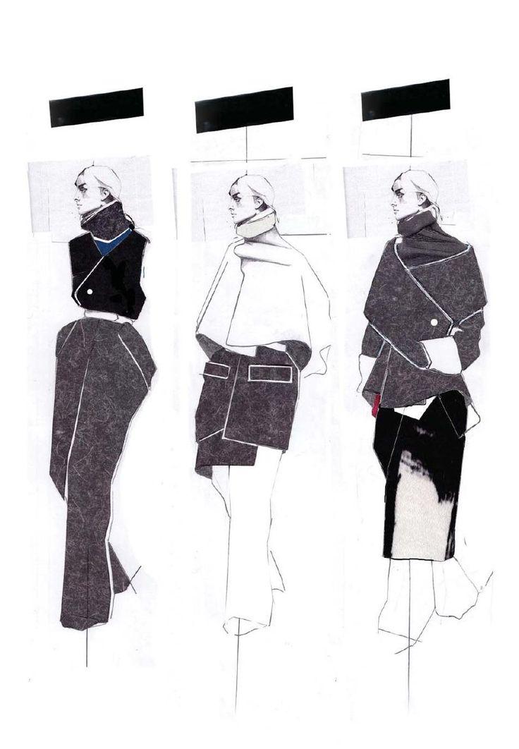 Fashion Sketchbook - fashion illustrations; fashion portfolio layout // Andrew Voss