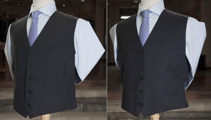"""Chaleco reversible """"E"""", camisa """"E"""", corbata de seda Alessandro Ferrarri."""