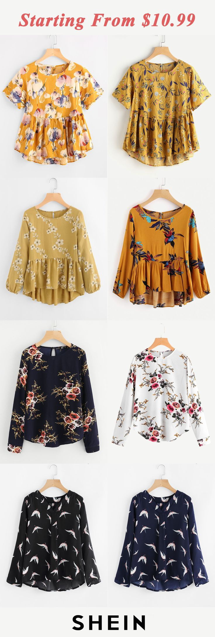 Print blouses start at $10.99