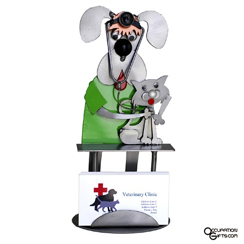 Dog Veterinarian Business Card Holder