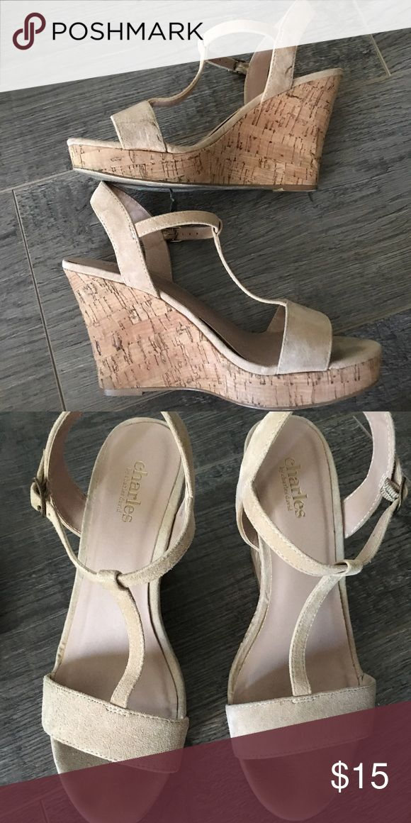 """Charles by Charles David sandal wedges Super comfortable wedges with about 3.5"""" heels. Please see photos for details! Charles David Shoes Wedges"""
