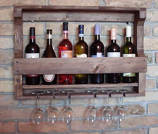 sombreroja / Polica na víno a poháre