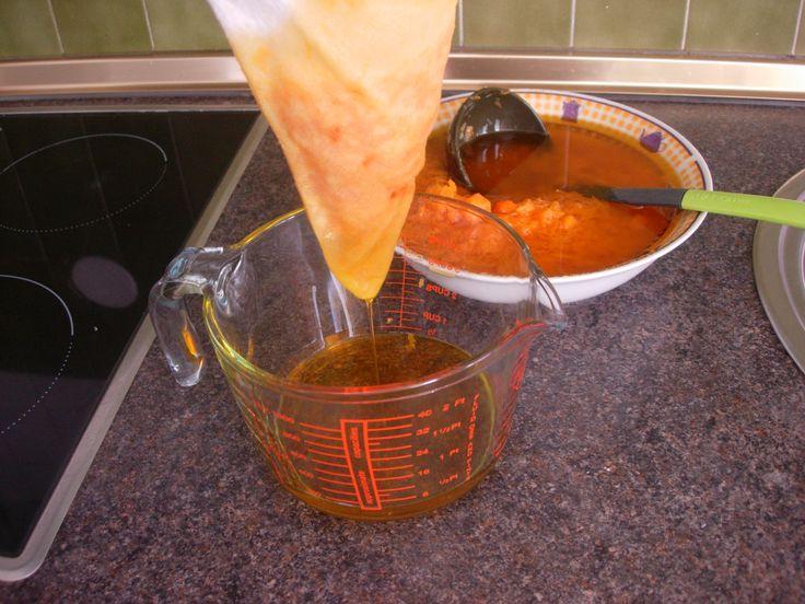 aceite de zanahoria filtrado