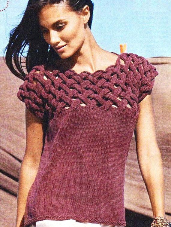 Crochet blousecrochet top crochet sweaterhand knit sweater