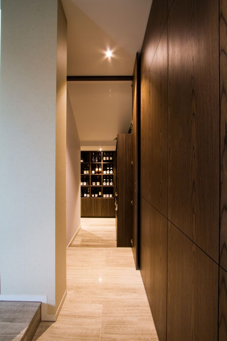 Modern, handless wine cellar. www.thekitchendesigncentre.com.au @thekitchen_designcentre
