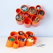 Kids' Storage: Kids' White Wall Cubby Organizer and Tabletop Storage