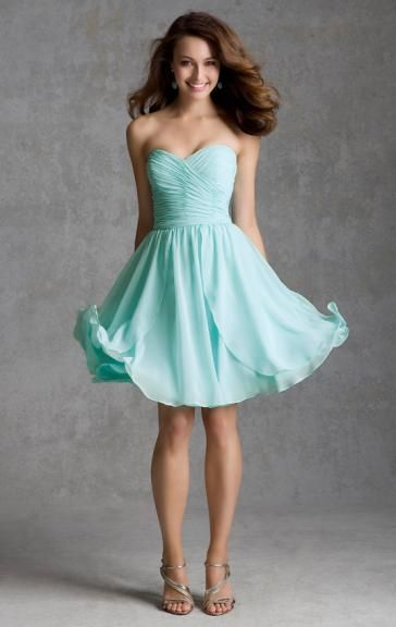Colour: Blue Green  Fabric: Chiffon  Fully Lined: Yes  Bulit in Bra: Yes  Made-To-Order: Yes