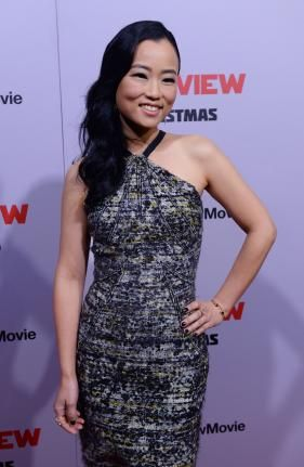 """Cast member Diana Bang arrives for the premiere of the motion picture comedy """"The Interview"""" at The Theatre at Ace Hotel in Los Angeles on December 11, 2014.  Read more: http://www.upi.com/News_Photos/Entertainment/The-Interview-premiere-in-Los-Angeles/fp/8749/#ixzz3LzEdSrnB"""