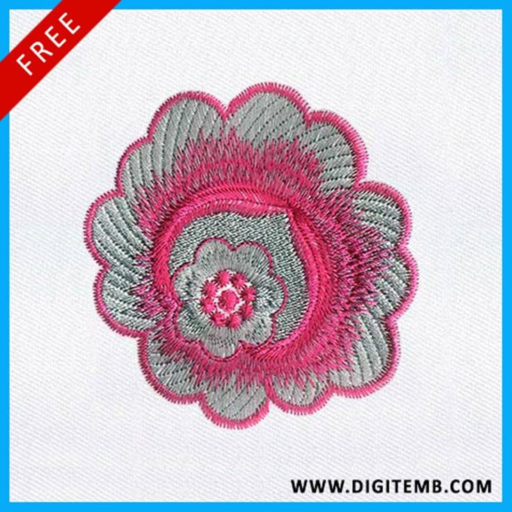 Guys!! We have new Pretty Cool Delicate Flower Machine Embroidery Design, and you will be amazed to hear that this #EmbroideryDesign is free of cost!!!
