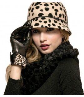 Pia Rossini Animal Print Wool Hat Phoenix Animal print Leather Glove