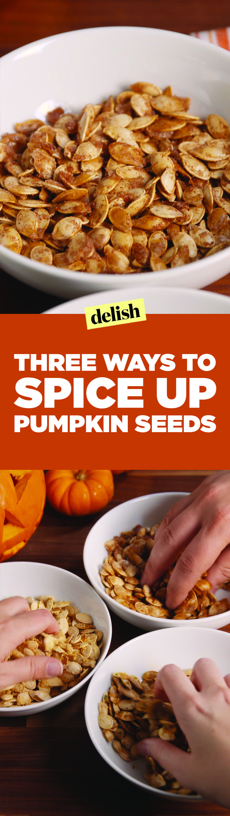 Take your roasted pumpkin seeds to the next level with these simple upgrades. Get the recipes on Delish.com.