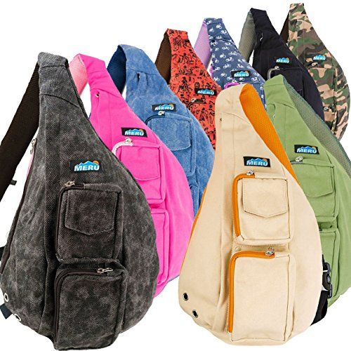MERU Sling Backpack  Crossbody Sling Bag  Memory Foam Strap EDC Bag  Men Women >>> You can get more details by clicking on the image.