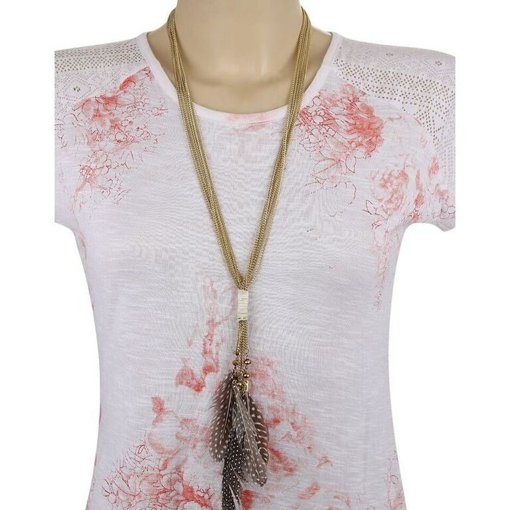 Adbeni+Real+Feathers+on+Metal+Handcraft+Necklace-ADB-002+Price+₹375.00