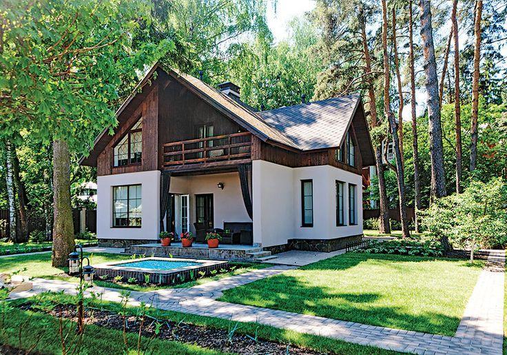 Компактный дом с динамичной архитектоникой мансарды | Архитектурные проекты | Журнал «Красивые дома»