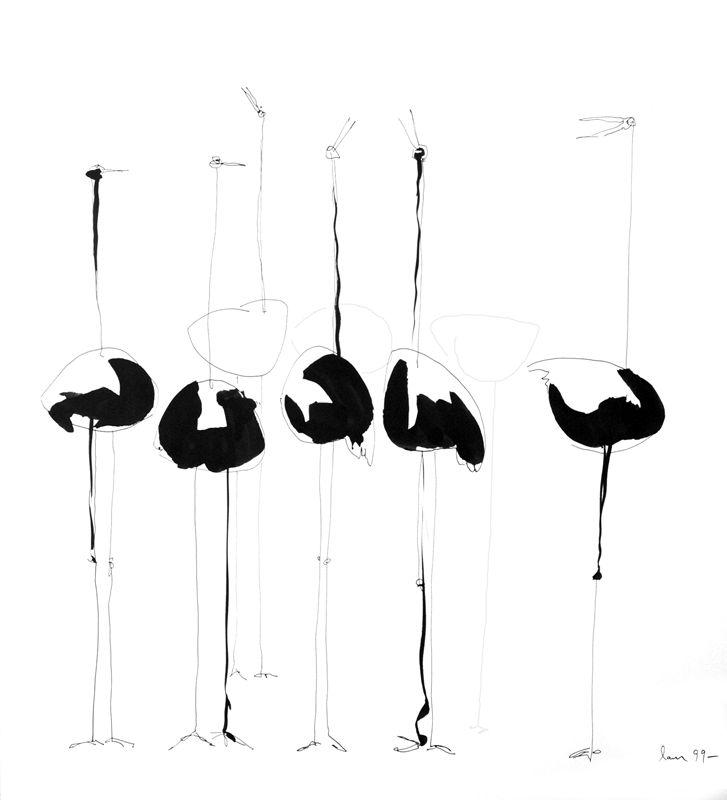 #Dibuix - Ocells en #tinta i #llapis  #Drawing - Bird in #ink and #pencil