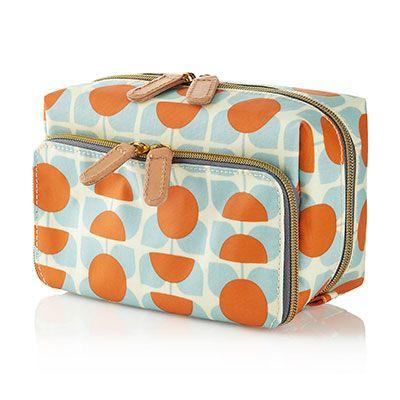 Orla Kiely Wash Bag Orange and Blue