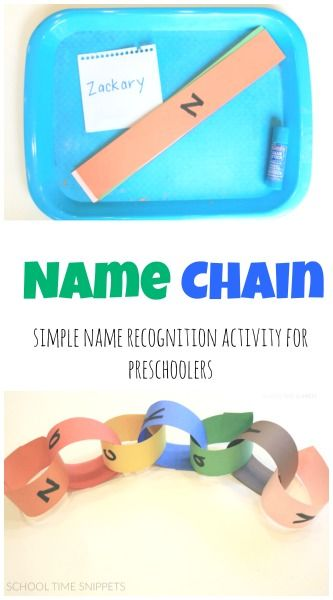 Simple name recognition activity for preschoolers-- love this twist on a classic activity! from School Time Snippets. Pinned by SOS Inc. Resources. Follow all our boards at pinterest.com/sostherapy/ for therapy resources.