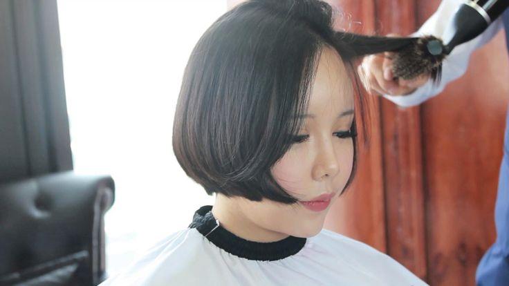 Long Hair To Short Bob Cut 얼굴이 갸름해보이는 여자 단발커트 16101