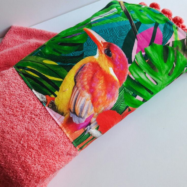 Coral exotic beach towel