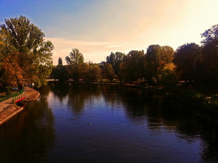 Brda River in Bydgoszcz