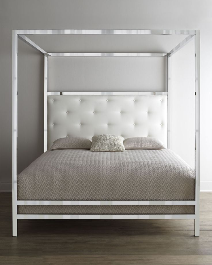 New Mirrored 4 Poster Bed