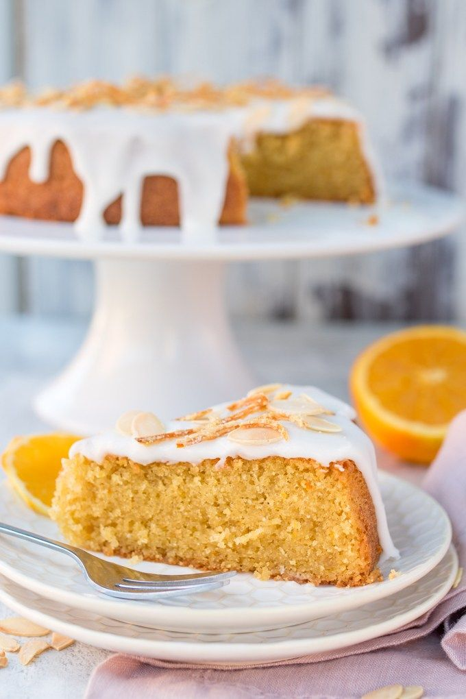 Orange Drizzle Cake with Candied Orange Peel - A simple bake that everyone loves! Gluten free too!