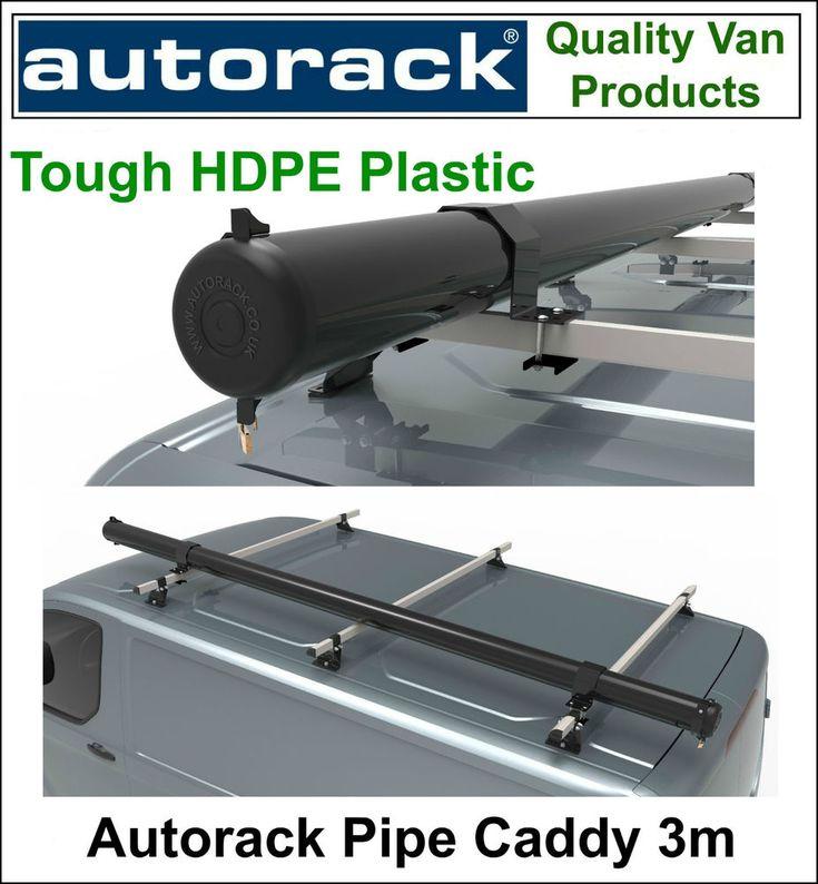 Autorack Pipe Caddy VAN PIPE TUBE CARRIER 3m Pipe Box fits to van roof rack bars #AUTORACK